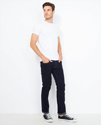 Donkerblauwe fitted straight jeans
